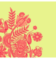 Hand draw ornate floral background