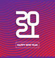 happy new year 2021 brochure design template vector image