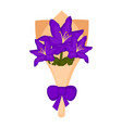 isolated bouquet of orchid flowers vector image vector image
