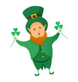 leprechaun patrick icon cartoon style vector image vector image