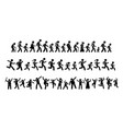 many people walking running and dancing together vector image