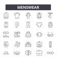 menswear line icons signs set linear vector image