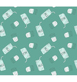 Milk boxs and glasses with milk Healthy seamless vector image