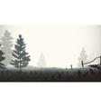 morning mist vector image