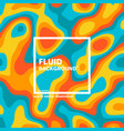 motley abstract futuristic fluid background vector image vector image