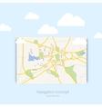 Navigration map vector image vector image