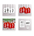 New Year Text Symbol Paper Labels Set Template vector image vector image