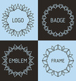 outline frames and badges vector image vector image