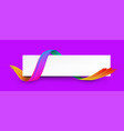 purple and white banner with colorful abstract vector image vector image
