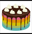 rainbow birthday cake image vector image vector image