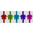 realistic colors bow and ribbon isolated on vector image