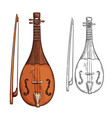 rebec musical instrument sketch arab music vector image