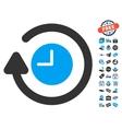 Repeat Clock Icon With Free Bonus vector image vector image