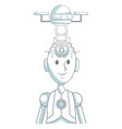 robot artificial intelligence vector image