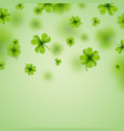 saint patricks day background design with falling vector image vector image