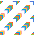Seamless pattern background with rainbow arrows vector image