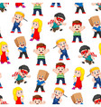 seamless pattern with children posing vector image