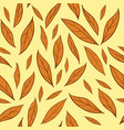 seamless pattern with orange autumn leaves vector image vector image