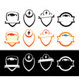 set of emblems with electric cars - badges with vector image vector image