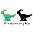 set of parasaurolophus design vector image vector image