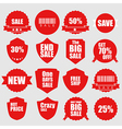 Set of sale icons design elements vector image vector image