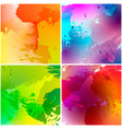 set of watercolor backgrounds vector image vector image