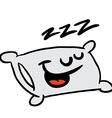sleepy pillow vector image vector image