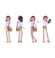 smart casual woman standing vector image vector image