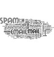 spamming word cloud concept vector image vector image