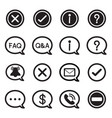 speech bubble silhouette icons chat message vector image