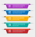 tabs banners elements vector image vector image
