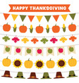 thanksgiving and fall party garlands vector image