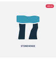 two color stonehenge icon from stone age concept vector image vector image