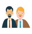 two men diversity characters vector image