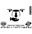 Unload Drone Hand Flat Icon With 2017 Bonus Trend vector image vector image