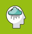 head cloud vector image