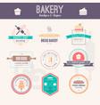 bakery logos vector image