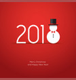 2018 new year creative design with snowman icon vector image vector image