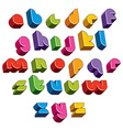 3d futuristic font bright and colorful letters vector image vector image