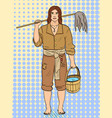 a man is a pirate a cabin boy or ships boy vector image