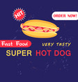 advertising with hot dog vector image