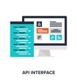 API interface vector image vector image
