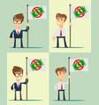 ban of money set flat vector image vector image