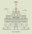 basilica saint anthony in padua italy vector image vector image