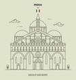 basilica saint anthony in padua italy vector image