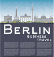 Berlin skyline with grey building and copy space vector image vector image