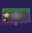 billboard with christmas banner spruce branches vector image