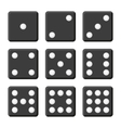 Black Dice Set on White Background vector image vector image