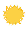 bright yellow sun cartoon style hand drawn vector image vector image