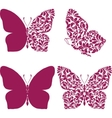 Butterfly set with patterned wing vector image vector image